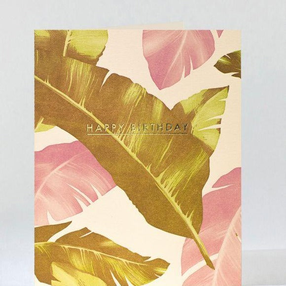 "Birthday Card ""Camo Palms"""