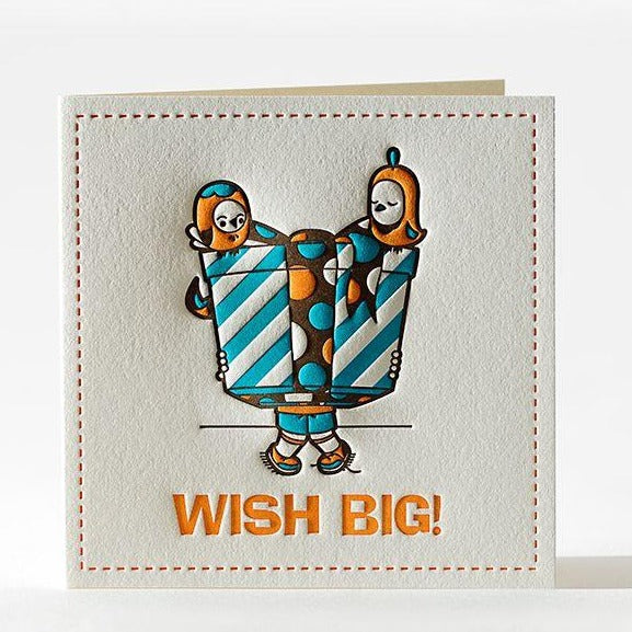 "Birthday Card ""Wish Big!"""