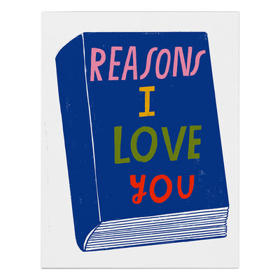 "Love Card ""Reasons I Love You"""