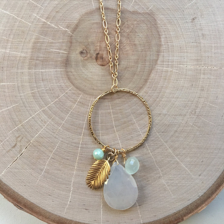 Gold Pendant Long Necklace