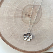 Silver Short Pendant Necklace