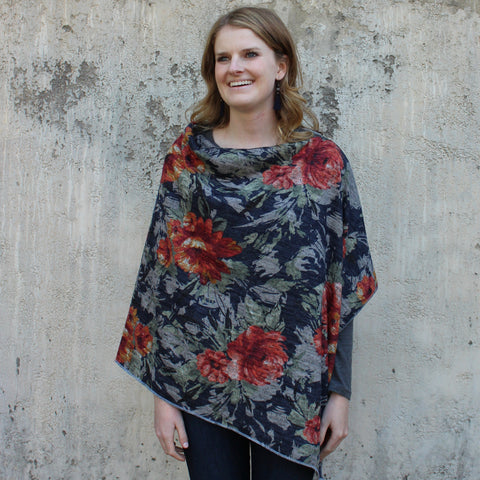 Heather Floral Ponchos