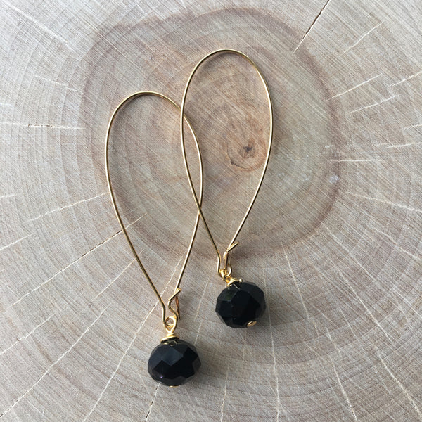 Gold Glass Drop Earrings