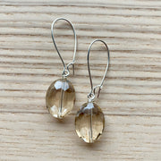 Silver Glass Short Earrings
