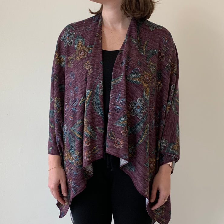 Heather Print Wrap