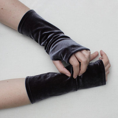 Velvet Fingerless Gloves