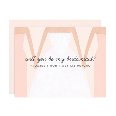 "Wedding Card ""Be My Bridesmaid"""