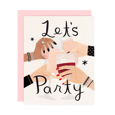 "Celebration Card ""Lets Party"""