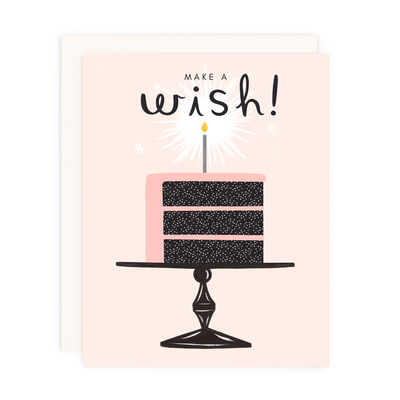 "Birthday Card ""Make A Wish"""