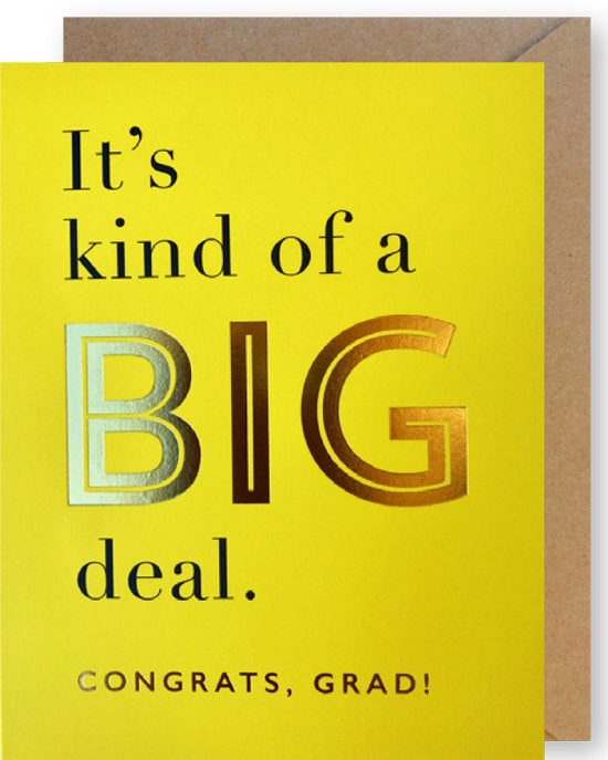 "Graduation Cards ""Big Congrats"""