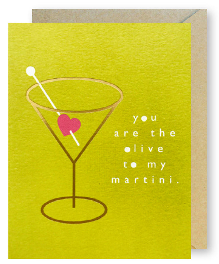 "Love & Friendship Card ""Olive Martini"""