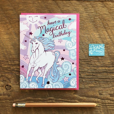 "Birthday Card ""Magical Unicorn"""