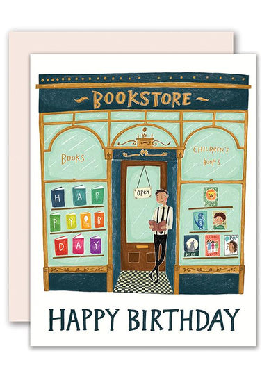 "Birthday Card ""Bookstore"""