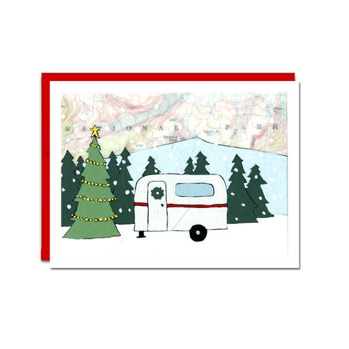 "Boxed Holiday Cards ""Holiday Camper"""