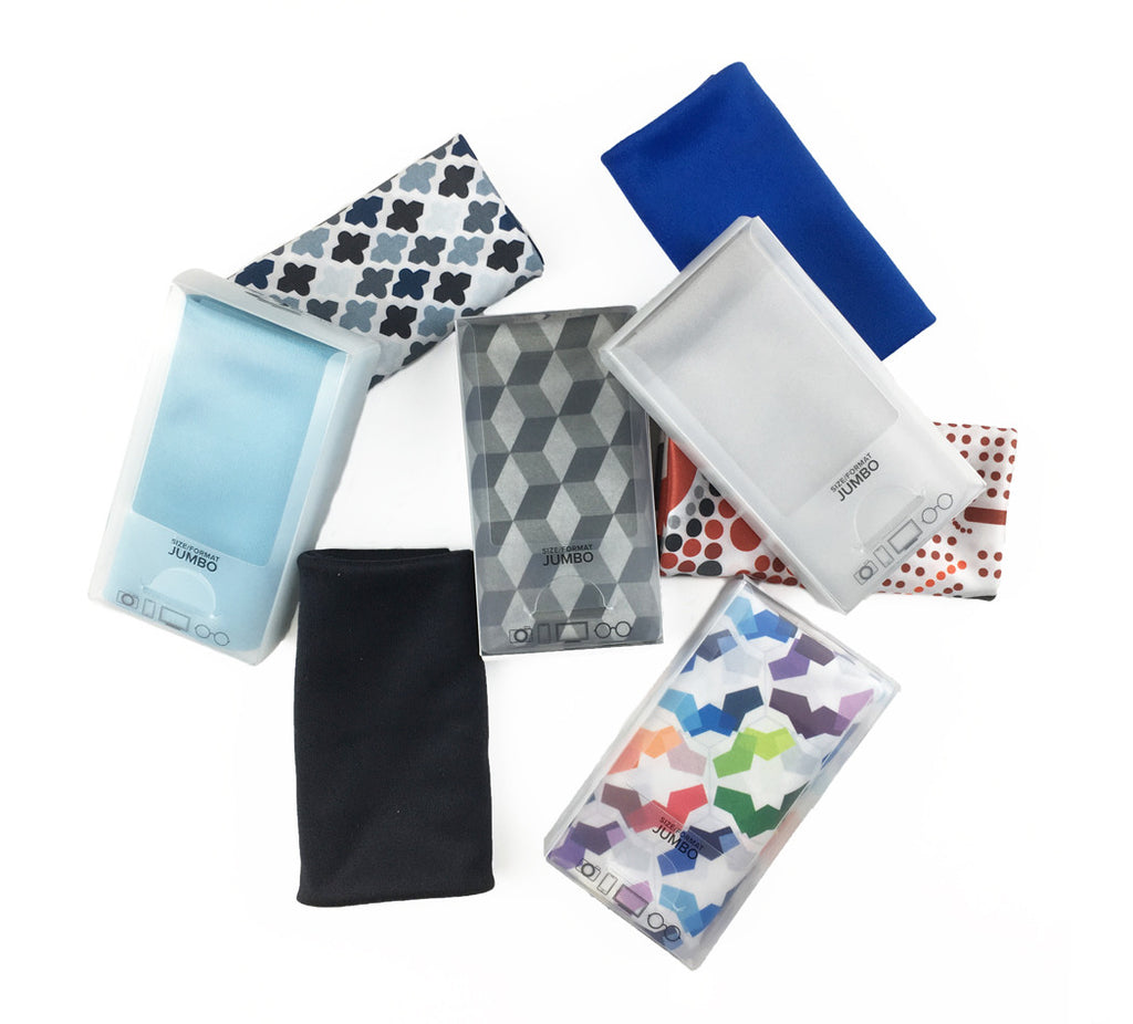 "Assorted 12"" x 15"" JUMBO Microfiber Cloths (Sold in multiples of 12 units)"