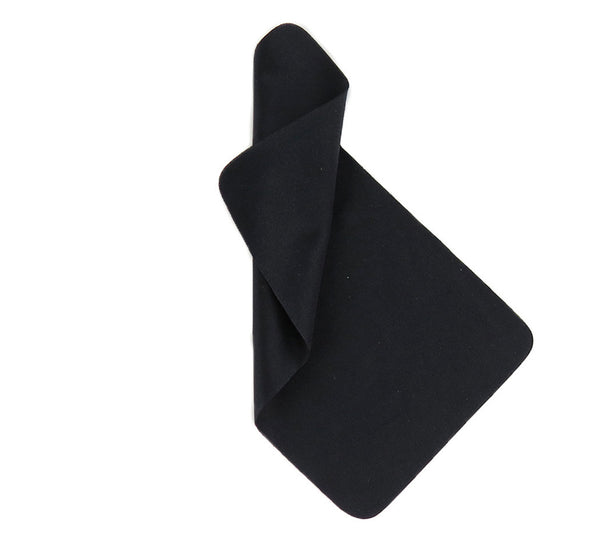 "Black 4""x7"" Microfiber Cloths"