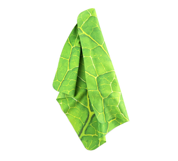 "Green Leaf 7""x7"" Fashion Microfiber Cloths"