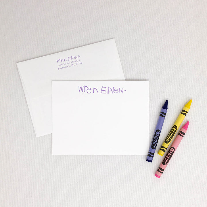 New Children's Signature Letterpress Stationery