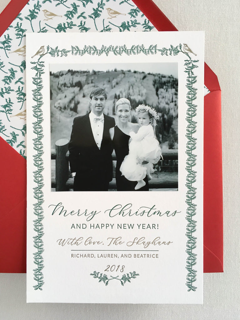 Custom Letterpress Christmas Cards | Lou's Letterpress
