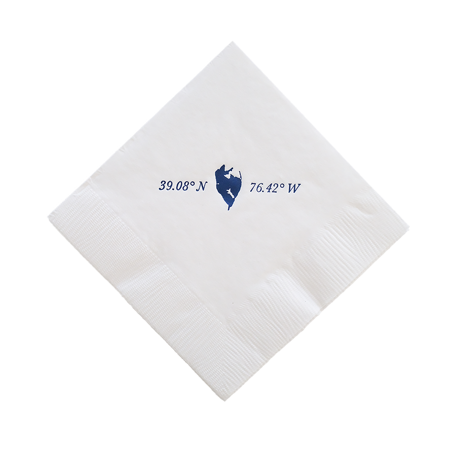 Gibson Island Cocktail Napkins, Set of 25