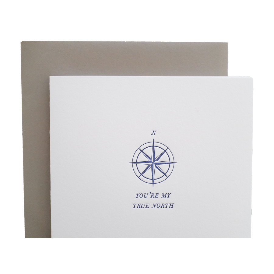 True North Nautical Letterpress Greeting Card