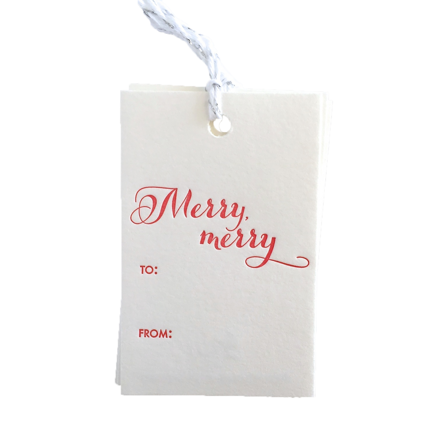 Merry Merry Gift Tags, Set of 6