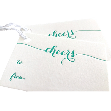 Cheers Gift Tags No. 2, Set of 6