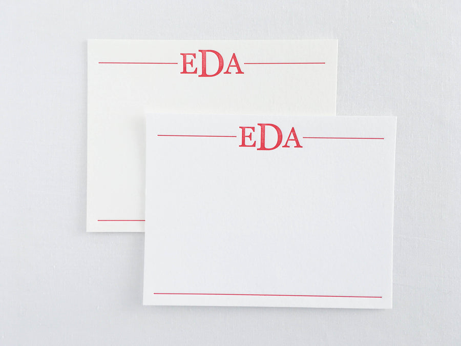 Classic Monogram Letterpress Stationery