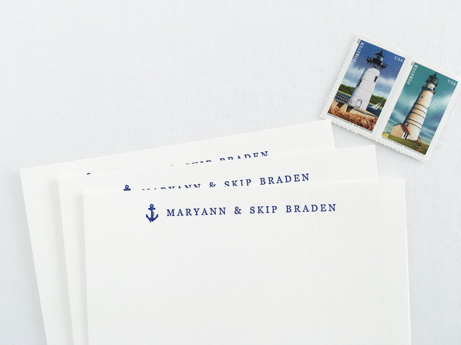 Anchor Letterpress Stationery