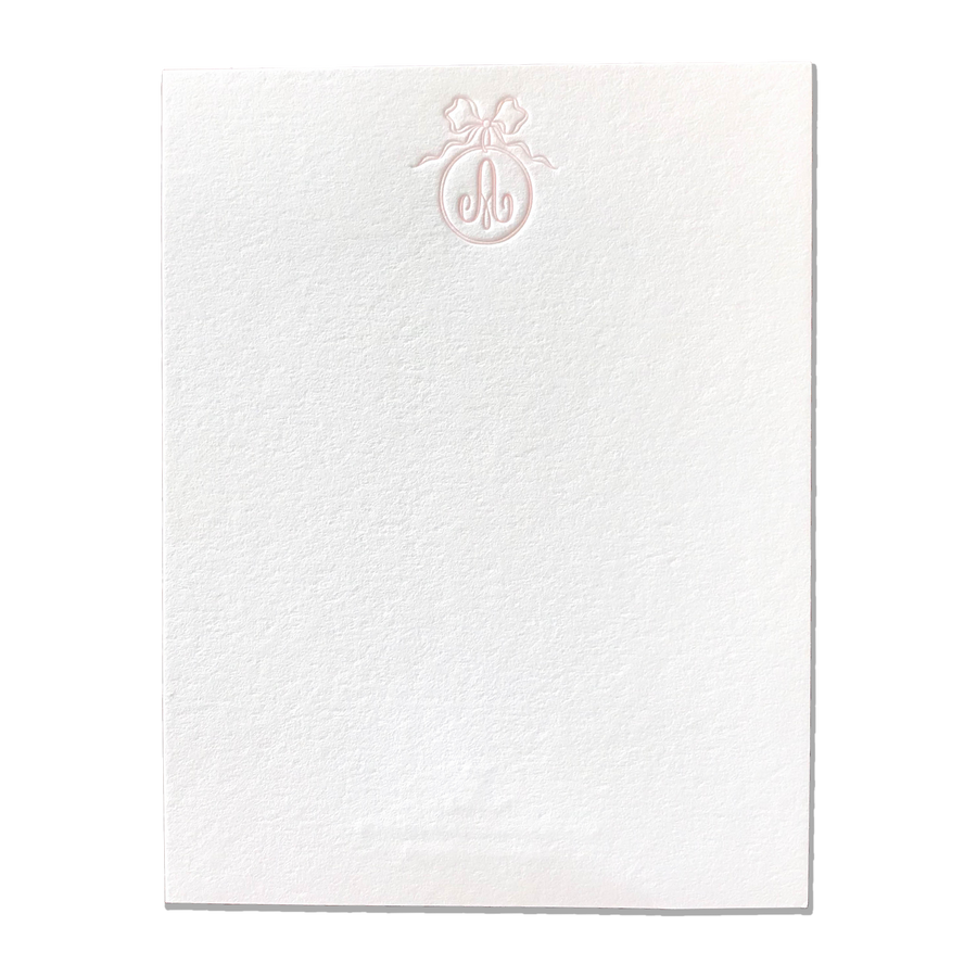 Victorian Monogram Letterpress Stationery