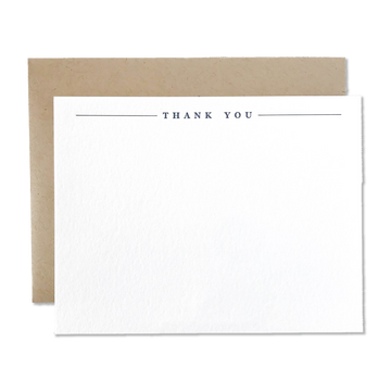 Navy & Kraft Thank You Cards