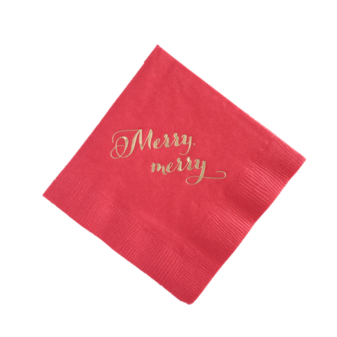 Merry merry Cocktail Napkins, Set of 25