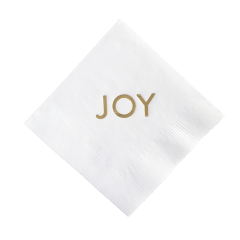 Joy Cocktail Napkins, Set of 25