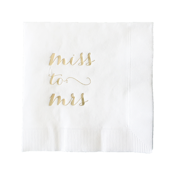 Miss to Mrs Bridal Shower Napkins