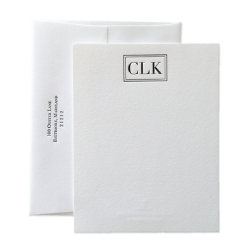 Vogue Monogram Letterpress Stationery