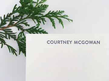 Modern Essentials Letterpress Stationery