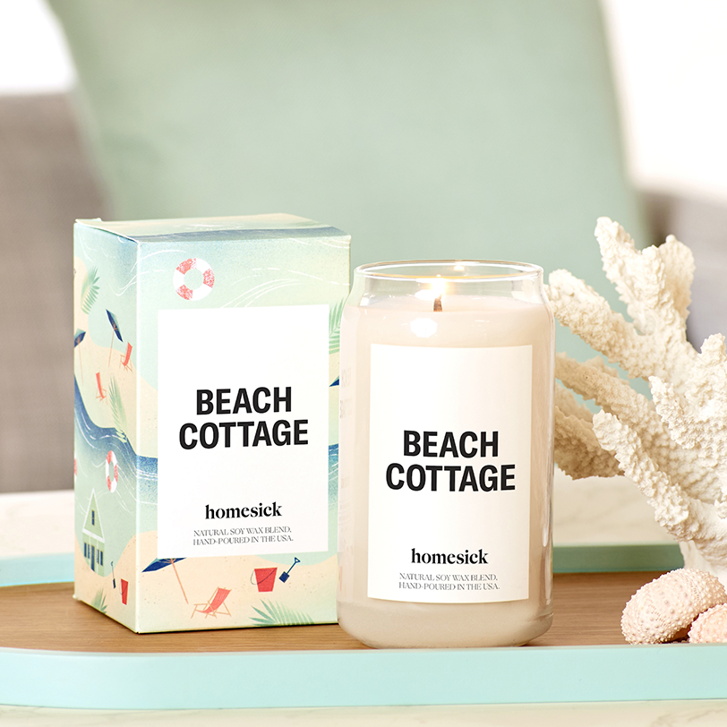 Beach cottage candle