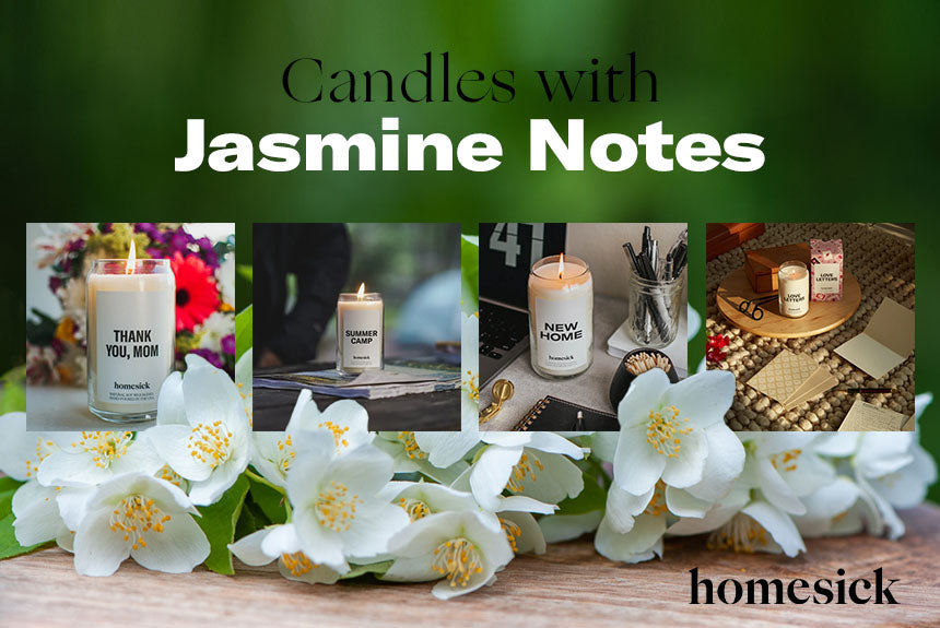 candles with jasmine notes