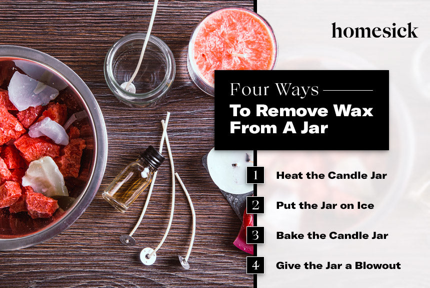 four methods to clean wax out of candle jars