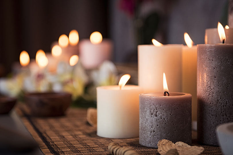 aromatic candles burn