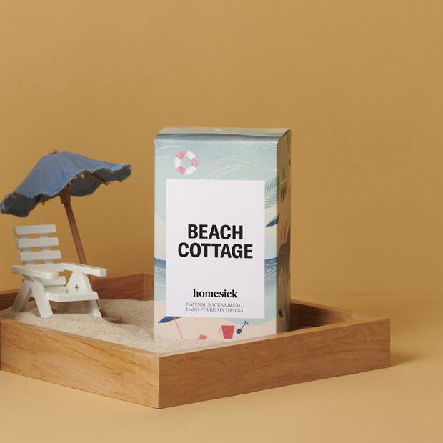a homesick beach cottage candle