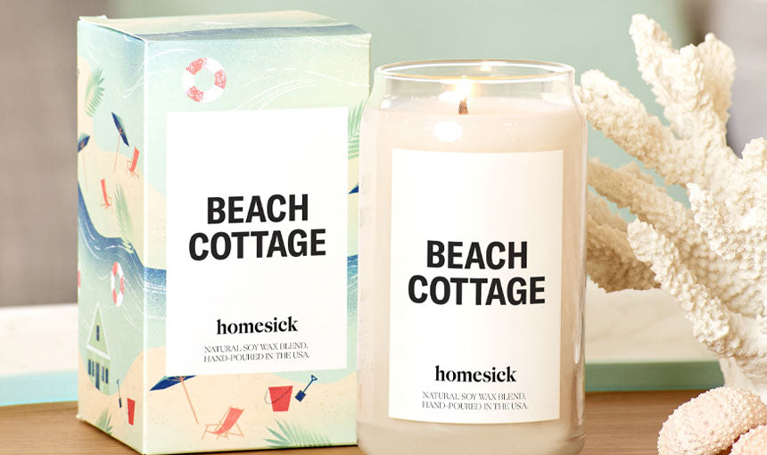 beach cottage homesick candle