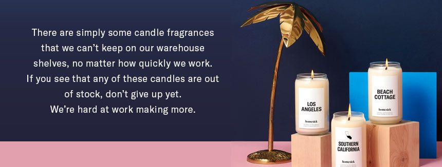 candle fragrances out of stock graphic