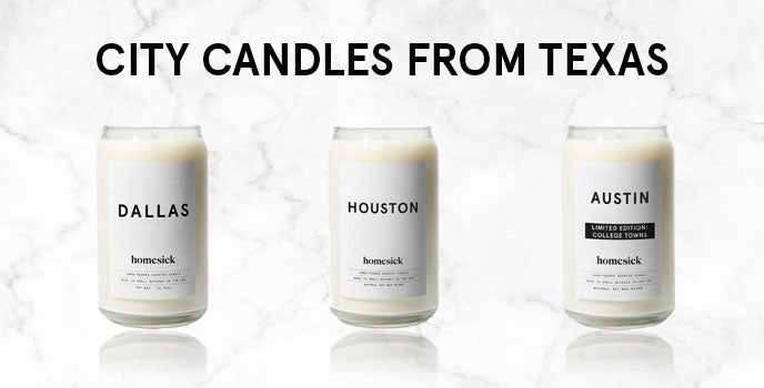 city candles from texas graphic
