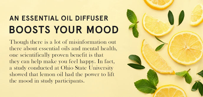 oil diffuser boosts mood