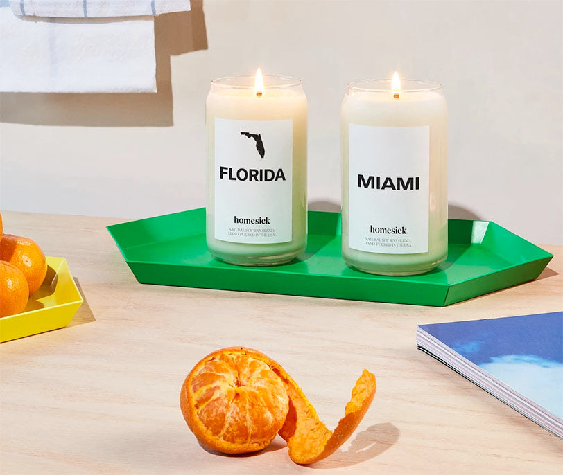 homesick florida and miami candles