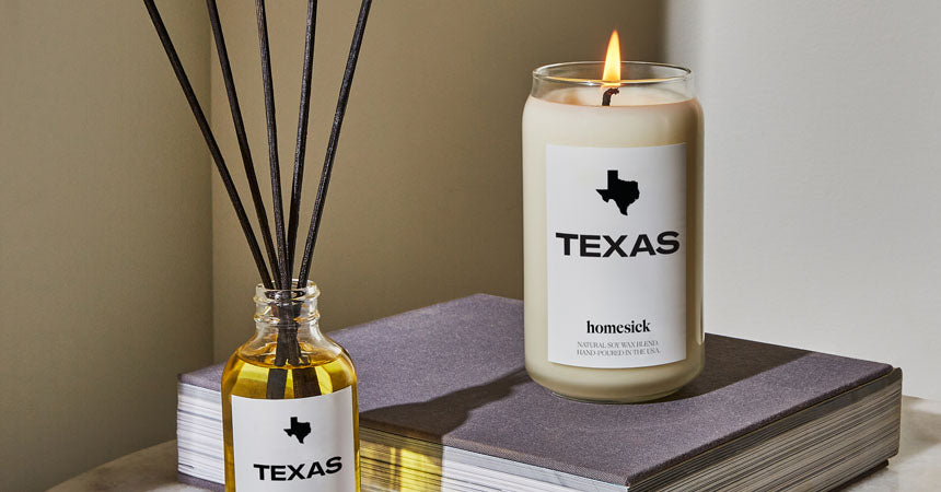 homesick texas candle and scented oil