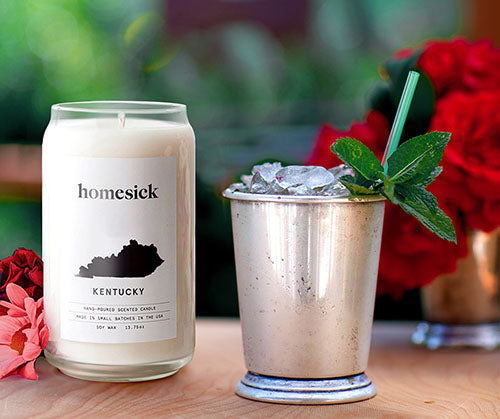 kentucky homesick candle outdoors