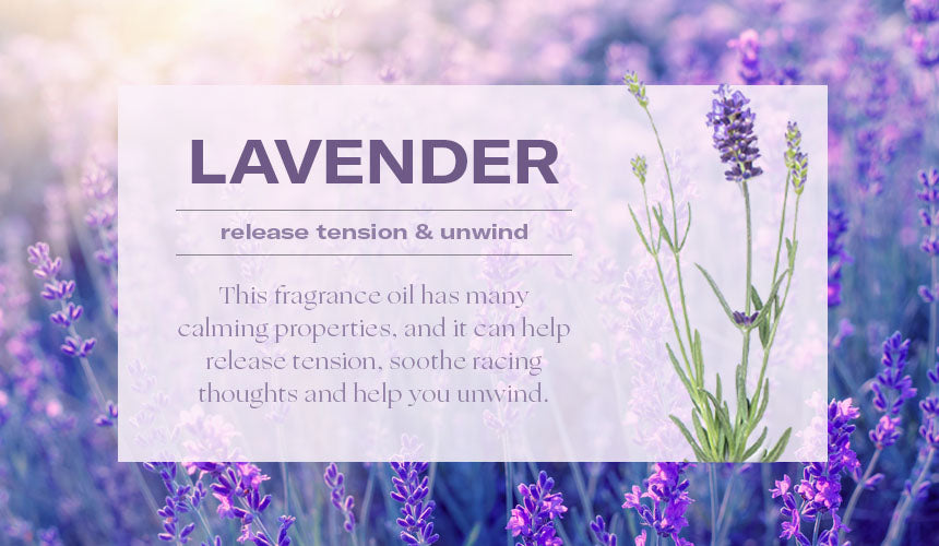 lavender aromatherapy release tension graphic