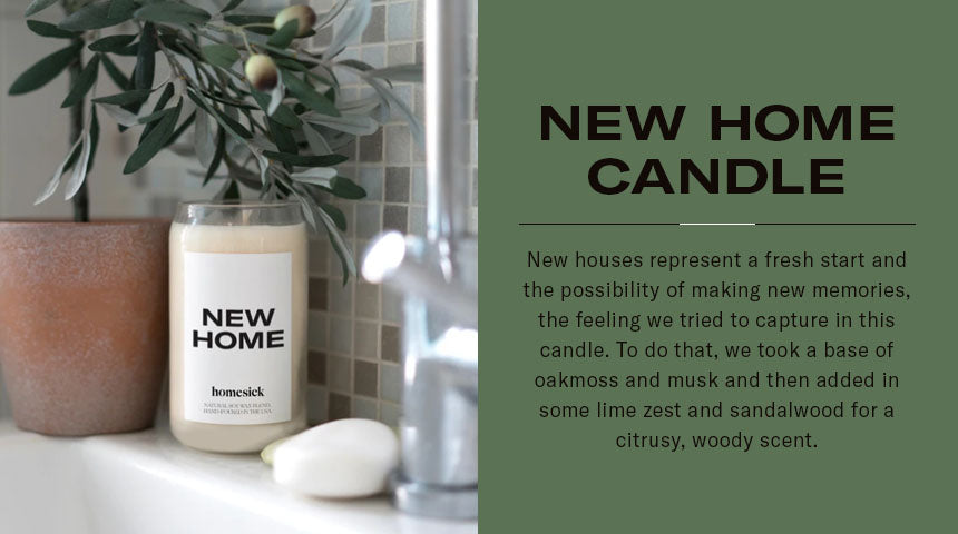 new home candle graphic